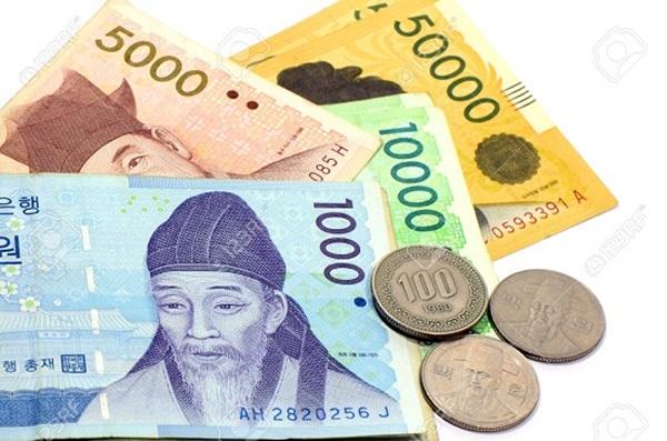 Hàn Quốc có 2 loại tiền giấy và tiền xu