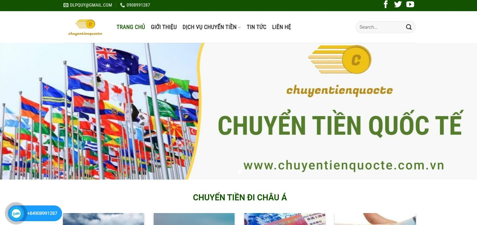 Chuyentienquocte.com.vn chuyển tiền từ Việt Nam sang Thái nhanh chóng, an toàn